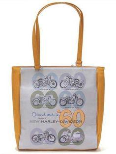 $16.98 @ Ebay. Harley-Davidson Womens Yellow 60's Theme Rhinestone Purse Tote Bag