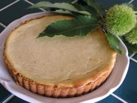 Chestnut cheesecake - so good! I used Clement Faugier Chestnut Spread ...