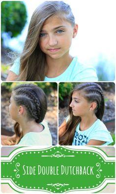 Double Dutchback Rocker Hairstyle #heidiklum #braid #braids #cutegirlshairstyles #hairstyles #edgyhair #backtoschoolhairstyles