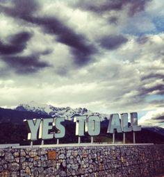 'Yes to all' at Kristallwelten, Wattens, Austria