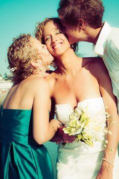 Bride, Groom & Maid of Honor