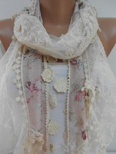 #lace #scarf #scarves #floral