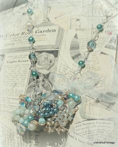 vintage brooch necklace statement necklaces, recreat vintag, jewelri idea, vintag jewelri, vintage brooches, vintag brooch, brooch necklac, cherish vintag, cherishedvintag