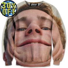 'Double Chins' Wave Rider Sweatshirt by Beloved Shirts @waverider_