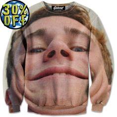 'Double Chins' Wave Rider Sweatshirt by Beloved Shirts @waverider_