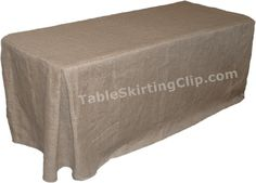 4 Foot Jute Burlap Fitted Tablecloth with Pleated Corners Burlap Tablecloths   eBay