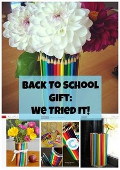 Check out this cute DIY Pencil Vase -- we tried it!