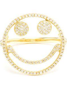 Rosa De La Cruz Smiley Ring