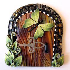 Green Garden Fairy Door Pixie Portal Kids Room Decor. $20,00, via Etsy.