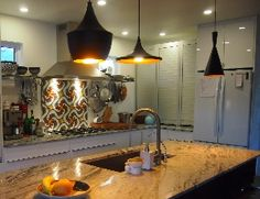Avente Tile Project: Cuban Cement Tile Pattern Warms Kitchen Backsplash