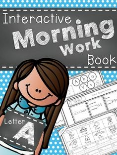 Interactive Morning Work Book-Letter A FREE