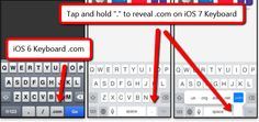 Here's How You Locate The .com Button On An iOS 7 Keyboard #ZAGGdaily #iOS7 #keyboard