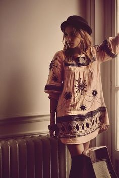 free people agosto 2013 vestido bordado