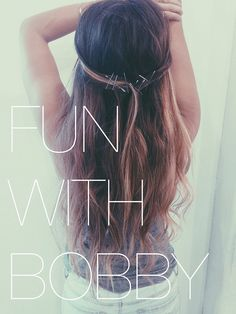 Fun with Bobby Pins by brandilisenbe, via Flickr