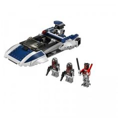 The LEGO Star Wars: Mandalorian Speeder is a 211-piece construction set.