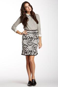 Pique Paisley Skirt