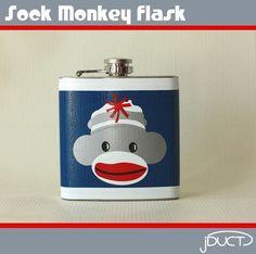 sock monkey flask!