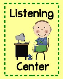 Listening center ideas and free printable.