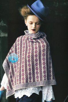 Poncho, Keito Dama 163 (Japanese knitting pattern)