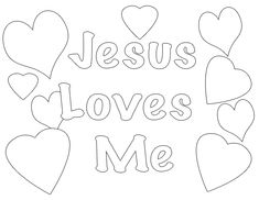 Jesus Loves Me Coloring Page - Acts 16:9-15 -Lydia Receives Jesus (Prek-1)