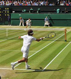 Rodger Federer and Novak Djokovic