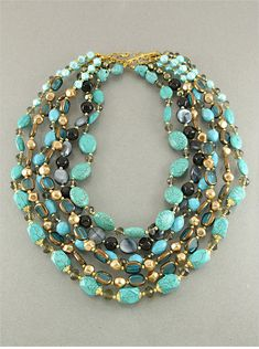 Turquoise Statement Necklace (photo only)