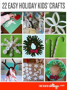 Try these DIY holiday #crafts from our favorite bloggers! #Christmas #DIY #crafts