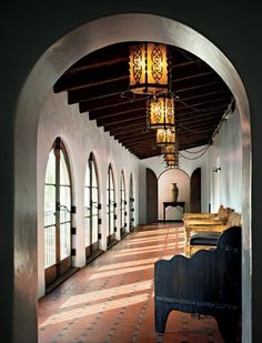 Diane Keaton's Spanish Colonial home.