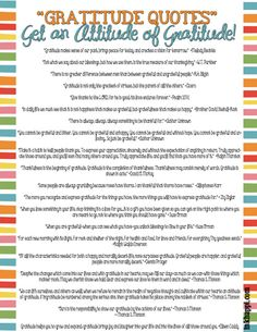 42 wonderful gratitude quotes printable as well as many other free gratitude printables at inkhappi.com