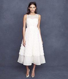 wedding dressses, style, bridal dresses, dress 795, tealength dress, weddings, rosebloom tealength