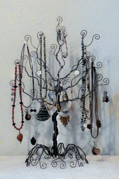 Diy crafts and projects by briannalynne94 on pinterest for How to make a wire tree jewelry stand