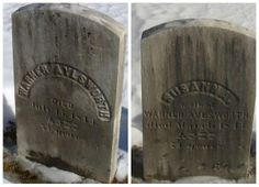 Granite in My Blood: Tombstone Tuesday: Warner and Susanna AYLSWORTH