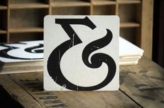 ampersand coaster, wood letters, vintage wood, font, letterpress ampersand, letterpress coaster, print, design, typographi