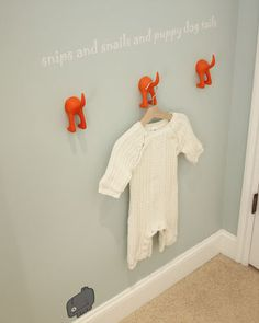 "cute boy nursery - hand painted ""snips snails puppy dog tails verse"""