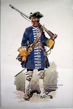 Fusilier, Bavarian Army, War of The Spanish Succession.