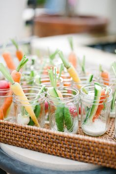 Individual Crudite Cups with Dressing // gorgeous, fresh and easy via Eat Drink Garden