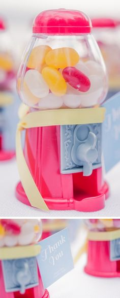 Mini Red Gumball Machine…cute thank you's