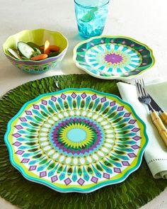 tabl top, tablescap magic, outdoor dine, dinner plates, outdoor space, kim seybert, festiv tabl, melamin dinnerwar