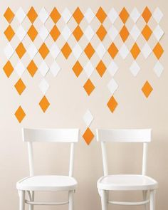 white w/ gold or silver squares for dessert table backdrop??     Diamond backdrop template from Martha Stewart