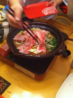 #Japanese #Nabe #recipe: veggies and meat simmered in broth