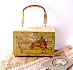 Vintage Decoupage Handmade Purse by jmhallcuriosities on Etsy, $28.00