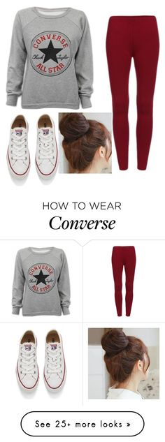 """Converse All Star"" by blueminnie7 on Polyvore featuring Converse, Pin Show, women's clothing, women, female, woman, misses and juniors"