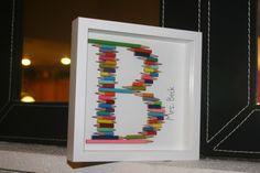Pencil monogram teacher gift