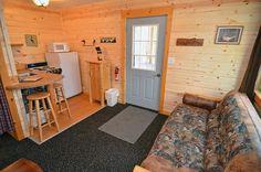 Cozy Interior of Bear Den Cabin