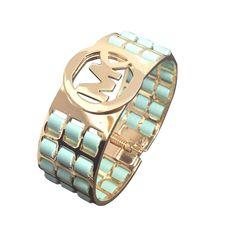 #MichaelKors Fashion Icon! Michael Kors Agate Logo Blue Bracelets - Don't miss out.   See more about blue bracelets, blue accessories and agates.