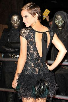 Emma Watson wows at Harry Potter premiere!