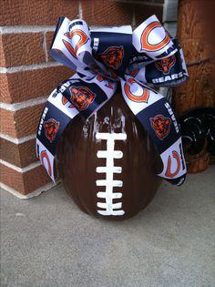 Chicago Bears Football Pumpkin ;)