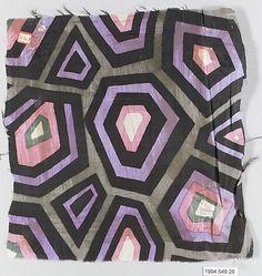 silk fabric, designer unknown, ca.1920, Wiener Werkstätte