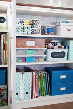 craft cabinet organization ideas //