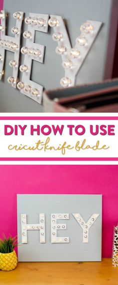 Today we're going to share with you on how to create your very own  Marquee Letters using your Cricut Knife Blade. It's super easy  to do and perfect to make even if it's your first time to use your knife blade on a DIY  project. #cricut #diecutting  #diecuttingmachine #cricutmachine #cricutmaker #diycricut #cricutideas  #cutfiles #svgfiles #diecutfiles #diycricutprojects #cricutprojects  #cricutcraftideas #diycricutideas